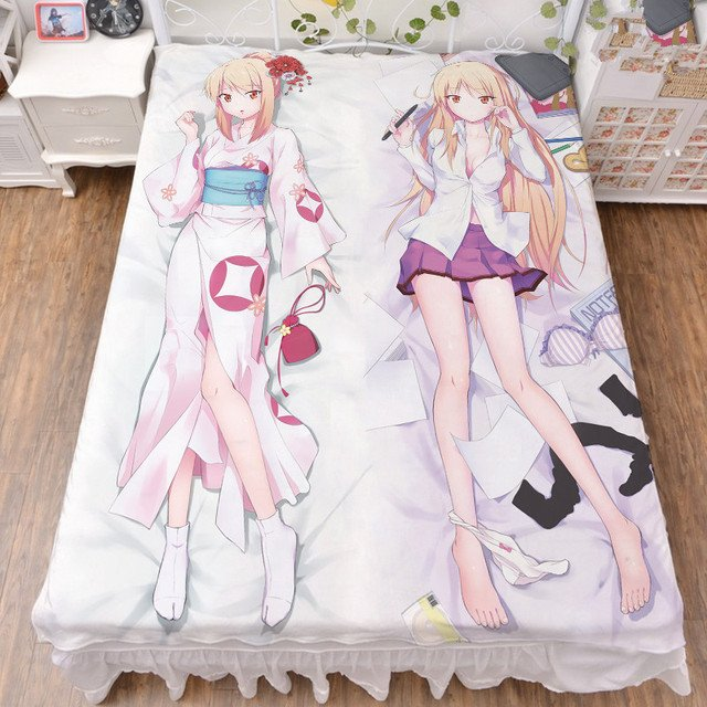 Anime The Pet Girl of Sakurasou character sexy girl Shiina Mashiro bed milk fiber sheet & flannel blanket summer quilt 150x200cm