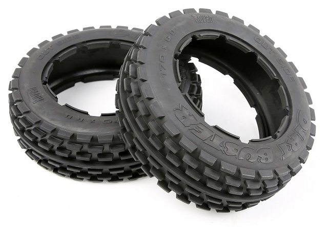 Strong grip and strong wear resistance front tires for ROVAN KM HPI BAJA 5B