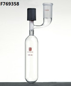 F769358 Tube,Storage with outer Joint, Capacity:350ml, Joint:19/22, Valve Size:0-8mm, Tube O.D.*Length:70*200mm