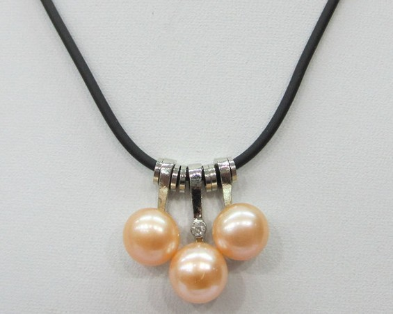 Natural Freshwater Pearl Necklace Chain Necklace Nice Gift for Hot Christmas Promotion 30pcs/lot