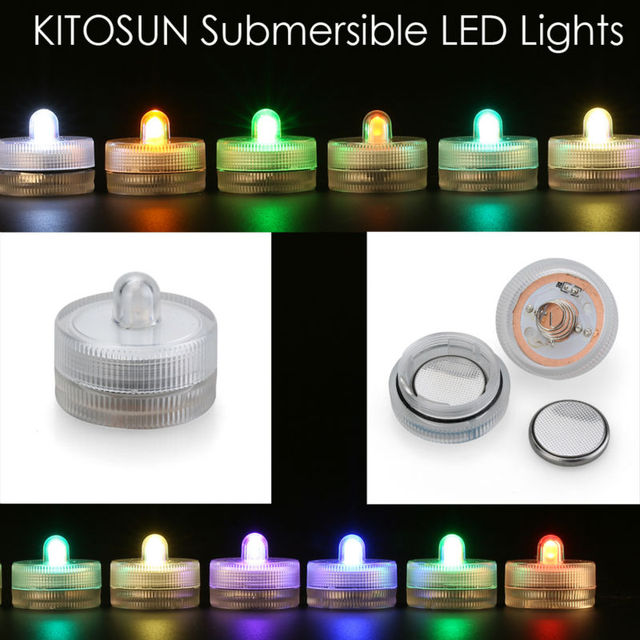 12pcs*Waterproof Submersible LED tea Lights Electronic Candles Lights for Wedding Birthday party vase Lamp Decoration