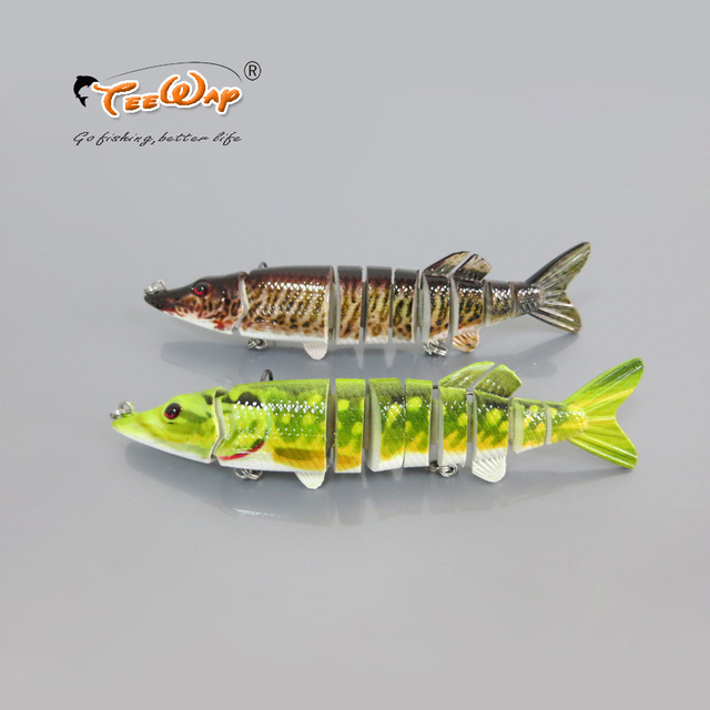 12.5cm 20g Life Like 9-segement Isca Artificial Pike Lure Muskie Fishing Lures Swimbait Crankbait Hard Bait Fishing Tackle