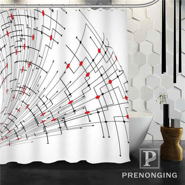 Personalized Custom Cute Black Cat Shower Curtain Home Decor Bathing Curtains Cloth Waterproof Polyester S171218-24