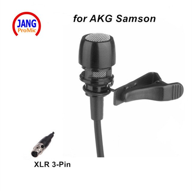 Professional Condenser Microphone Lapel Transmitter Microfone for AKG Samson etc Wireless Microphone System Mini XLR 3pin