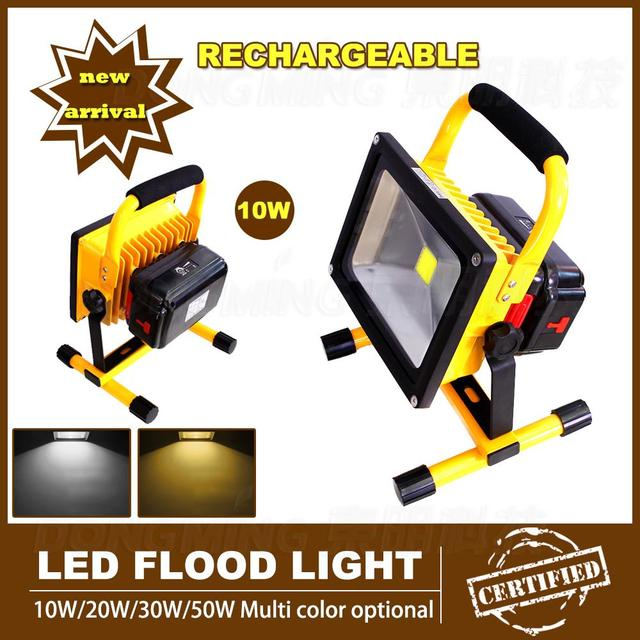 10w Rechargeable led floodlight waterproof 85-265V portable Flood light lamp Day warm white/white IP65 Outdoor spotlight
