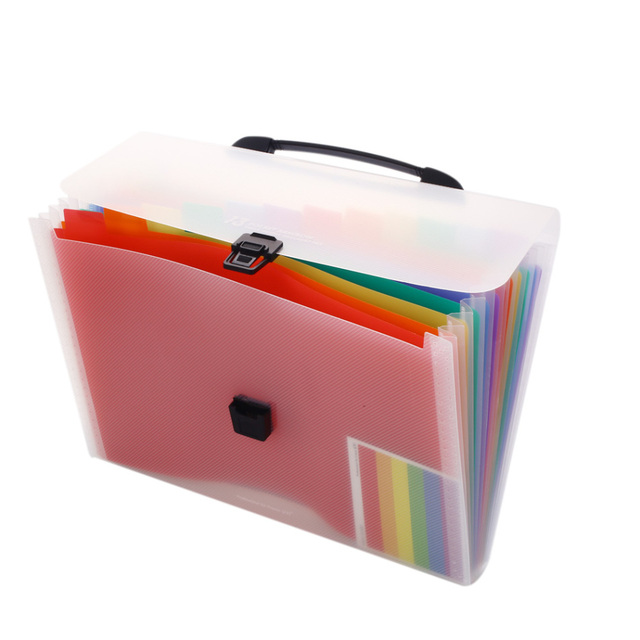 13 Grids Multi-layer File Folder Organ Bag A4 / A6 Organizer Business File Office Supplies Document Holder Student Storage