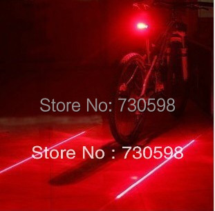 Bike Laser Tail Light  (5LED+2Laser) Cycling Safety Bicycle Alam Rear Lamp 7 Modes Mountain Bike Light