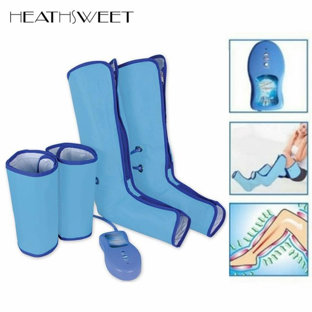 Healthsweet Air Compression Leg Wraps Boots Socks Heating Sauna Belt Relaxation Regular Massager Thigh Foot Ankles Calf Therapy