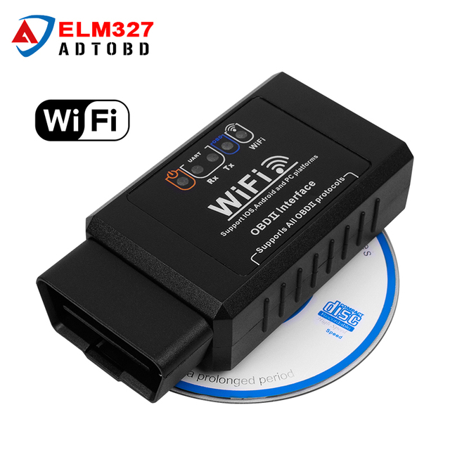 Car OBD 2 WIFI Connection Wireles obd 2 OBDii Diagnostic Tool ELM327 WIFI OBD2 Tool Works For iphone IOS Android Smart ELM 327