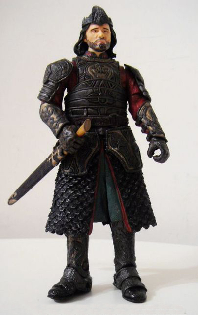 Toy Biz Lord of the Rings LOTR Aragorn King of Gondor Red armor ACTION FIGURE