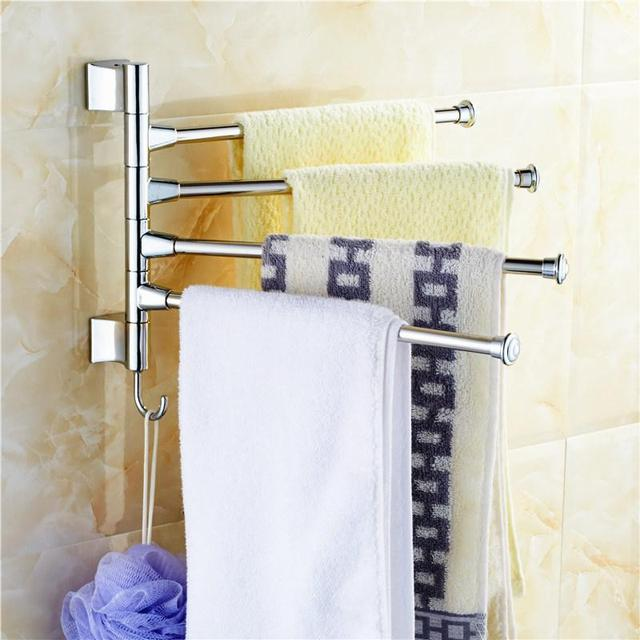 Stainless Steel Wall-mounted Towel Racks Holder Bathroom Polished Rack Holder Hardware Accessory Bathroom Haing Organizer