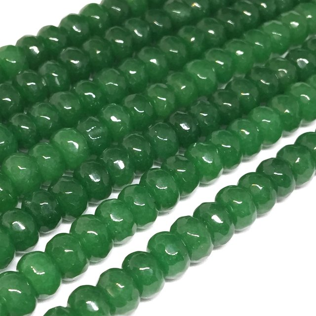 Natural Green Chalcedony jades Abacus Stone 5x8mm Faceted Abacus Rondelle Loose Beads Women Jewelry Making 15inch MY5328