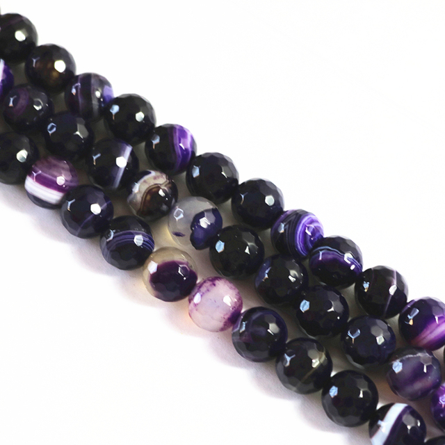 Faceted round natural purple fringe vein onyx stone agat carnelian 4mm 6mm 8mm 10mm 12mm loose beads jewelry findings 15inch A21