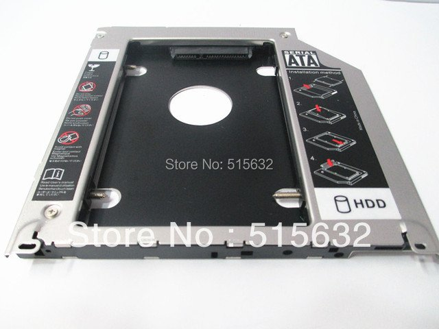 All aluminum  improved version 9.5mm SATA 2ND HDD SDD Super HARD DRIVE caddy For Apple Unibody MacBook Pro