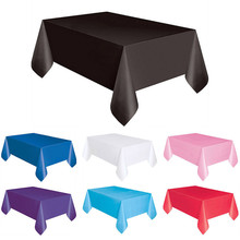 Large Plastic Rectangle Table Cover 7 Color 183*137cm Disposable Table Cover Practical Tablecloth #B10