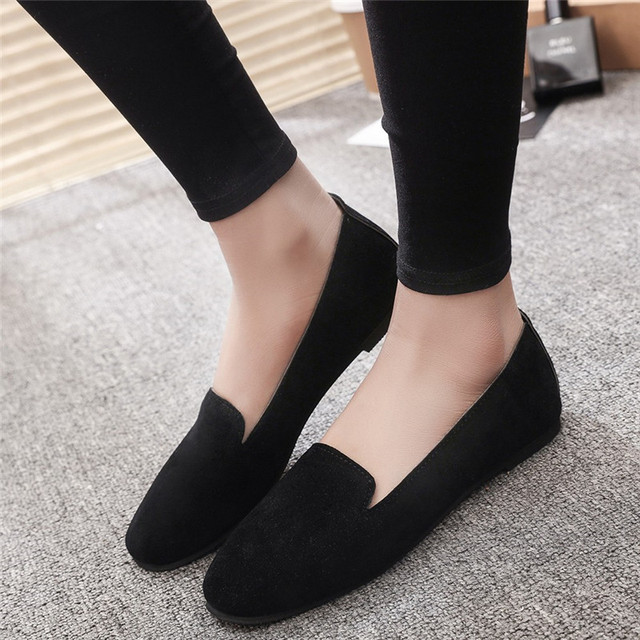 Big Size Women Flats Candy Color Shoes Woman Loafers Summer Fashion Sweet Flat Casual Shoes Women Zapatos Mujer Plus Size #40