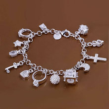 Free shipping 925 silver Bracelet & Bangle, fashion jewelry silver ,hot sale 925 silver, Nice Package! BB82