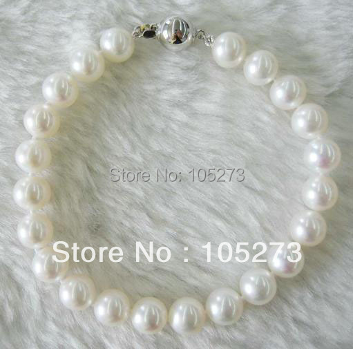 New Arriver Pearl Jewelry AA 8-9MM White Natural Freshwater Pearl Bracelet High Quality Low Price 8inch New Free Shipping