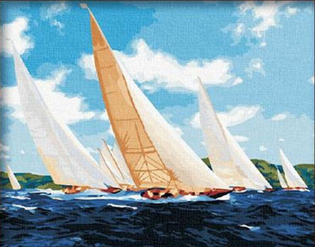 modern oil painting pictures oil painting sailing ships oil painting classical landscape home decoration wall art G079