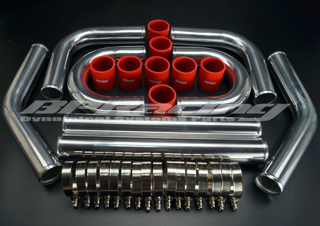"""2.25"""" INCH /OD 57 mm / 2 MM THICKNESS / ALUMINUM TURBO INTERCOOLER PIPING KIT / PIPES/ CLAMP /COUPLER / UNIVERSAL"""