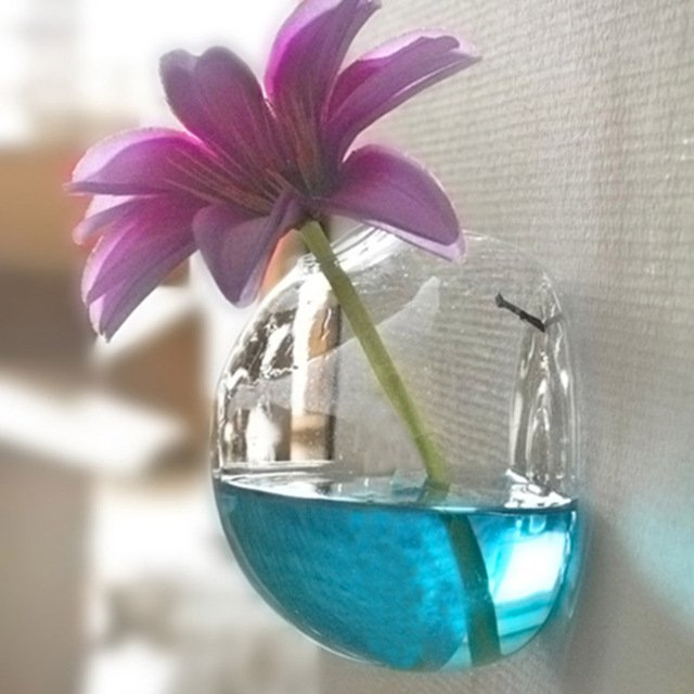 Glass Hanging Vase Terrarium Container Hydroponic Plant Pot Flower DIY Home Table Decor Home Garden Ball Decor Hanging Glass