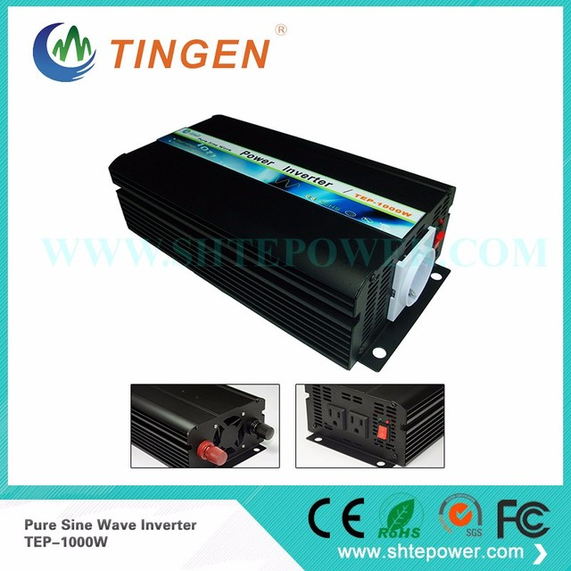 Factory straight sell CE&ROHS 1000W DC 12V/24V to AC 100V Pure Sine Wave Power Inverter