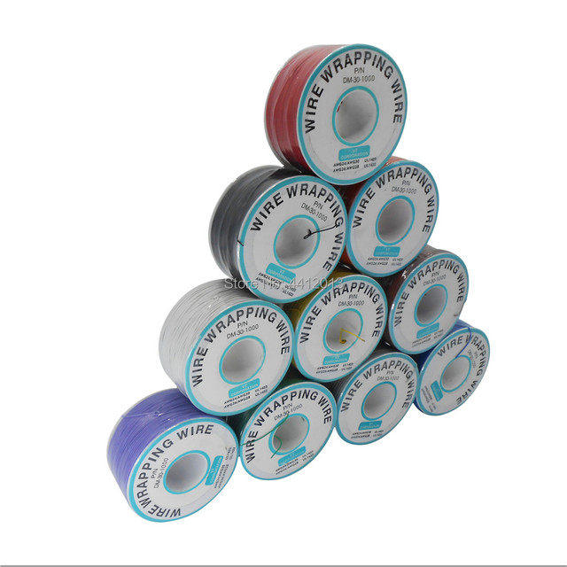 High quality electrical Wire Wrapping Wire Wrap 10 Colors Single strand copper AWG30 Cable OK Wire & PCB Wire