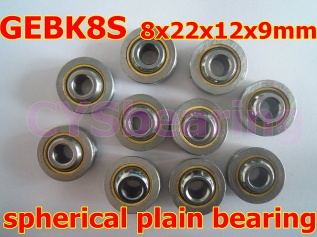 GEBK8S PB-8 radial spherical plain bearing with self-lubrication for 8mm shaft