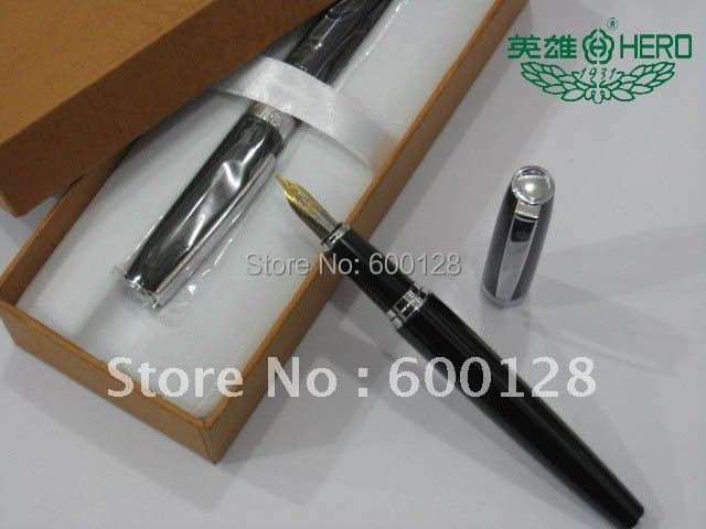 Guaranteed 100% Genuine HERO Fountain Pen (382),Metal pen,Have security check code, Wholesale and retail