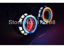 3.0HQT H1 H3 cold neon auto hid bi xenon projector lens kits with double ccfl angel eyes By HongKong Post Free Shipping