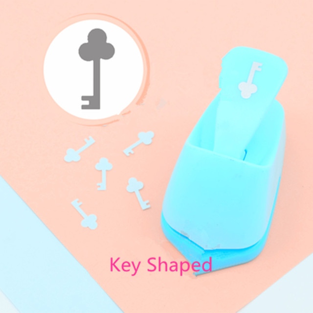 Free Shipping Key shaped save power paper/eva craft punch Scrapbook Handmade punchers Child DIY hole punches lock opener puncher