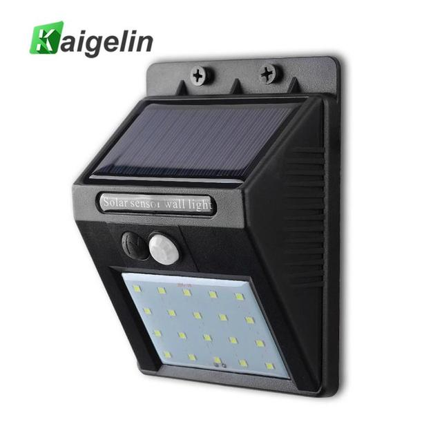 Outdoor Waterproof LED Solar Power PIR Motion Sensor Wall Light 20 LED Energy Saving Street Yard Path Home Garden Security Lamp