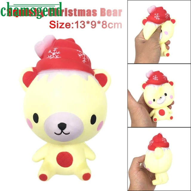 antistress trick slime toy antistress toy 13cmChristmas poo Bear Relieve Anxiet Squishy Slow Rising Squeeze for kids ov22 p30