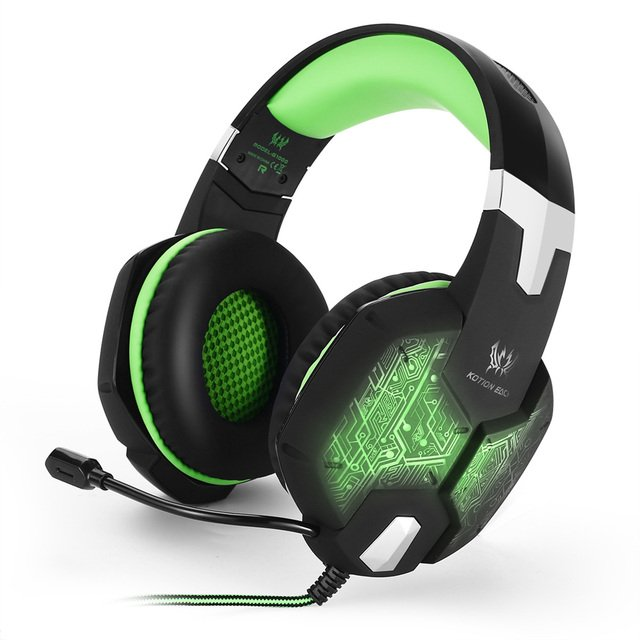 Cncool Hot G1000 Gaming headphones Deep Bass Game headphones Headset 3.5mm Computer Stereo LED light with microphone mic for PC