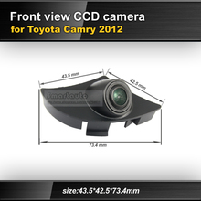 High quality HD CCD car front view parking camera for Toyota Camry 2012 night vision waterproof