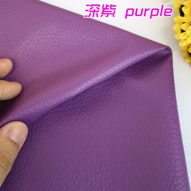 """Purple Big Lychee Pattern PU Synthetic Leather Faux Leather Fabric Upholstery Car Interior Sofa Cover  54"""" Wide Per yard"""