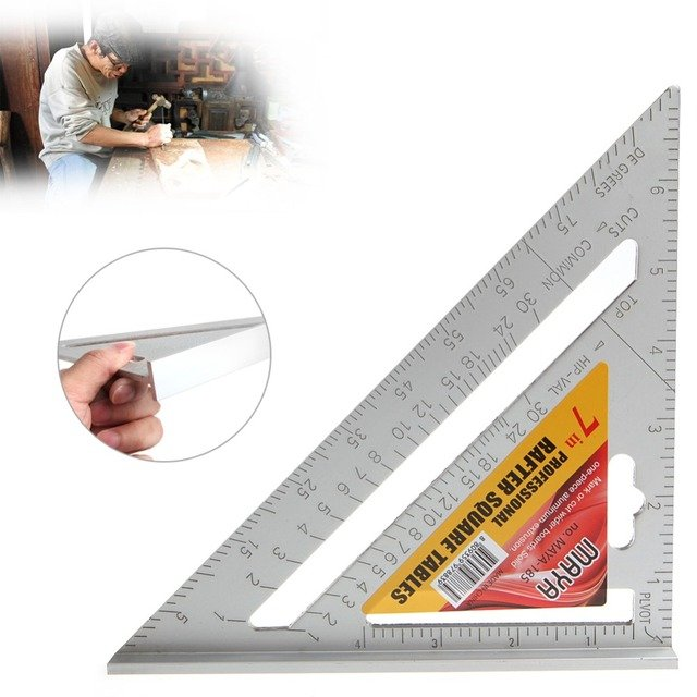 "7"" Square Carpenter's Measuring Ruler Layout Tool Triangle Angle Protractor Hot"
