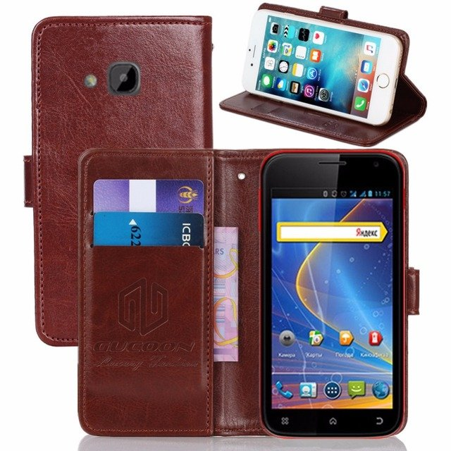GUCOON Vintage Wallet Case for Explay X5 5.0inch PU Leather Retro Flip Cover Magnetic Fashion Cases Kickstand Strap