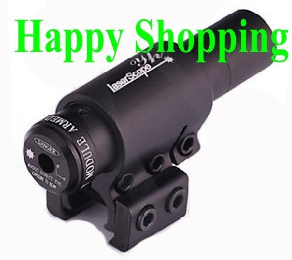 5mW pistol red laser dot sight scope with 11mm 20mm mounts