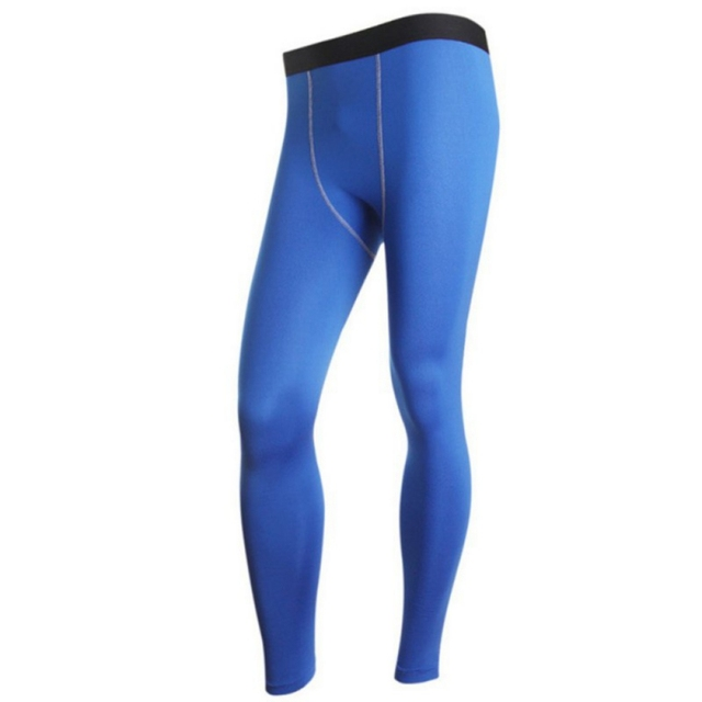 Outdoor Men High Stretch Tight Gym Long Sports Running Pants Sexy Drop Shipping