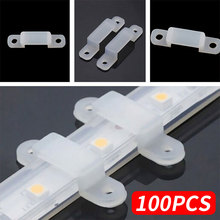 Fixer Clip Durable 5050 5630 100pcs LED Strip Light Clear Silicone Accessory Silicon Fastener RGB Fix
