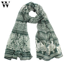 2017 New Ladies Neck Stole Elephant Print Long Scarf Shawl Wrap Pashmina