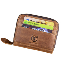 New Fashion Brand Genuine Leather Card Bag Small Coin Card Pocket Color Cash Mini Purse Holder Bank Credit Card Driver's License