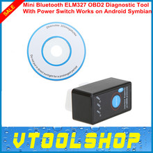 Super Mini Bluetooth ELM327 V1.5 ELM 327 OBD2 OBD-II CANBUS Scanner Tool with Switch works on Android Symbian Windows