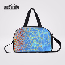 Dispalang Unique Design Rust Printed Men Weekend Carry On Luggage Bags Canvas Travel Duffel Bag Luggage Travel Bags For Women