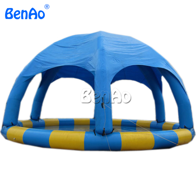 W017 BENAO  Dia 8m 26.5ft  Inflatable water pool with dome tent, fit for 8-15pcs water ball    Repair kits & CE/UL pump for free