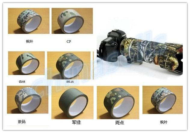 10M Camo Wrap Outdoor Hunting Bionic Tape Cotton Waterproof Speckle Camouflage Rifle Hunting Shooting Tool Stealth Tape