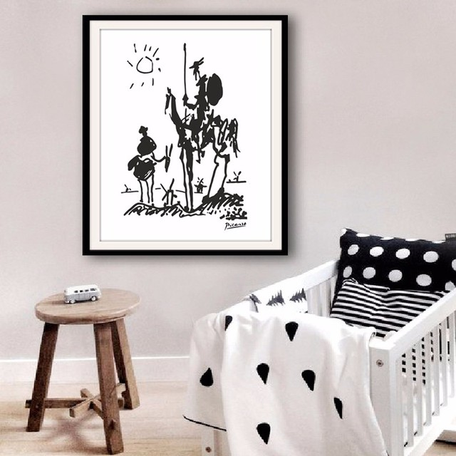 Modern Abstract Oil Painting Canvas Art Pablo Picasso Paintings Don Quixote Banksy Poster Wall Pictures for Living Room No Frame
