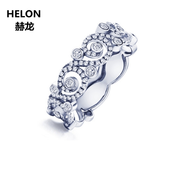 0.41ct SI/H Natural Diamonds Engagement Ring Women Solid 14k White Gold Anniversary Wedding Band Luxurious Rose Gold Optional