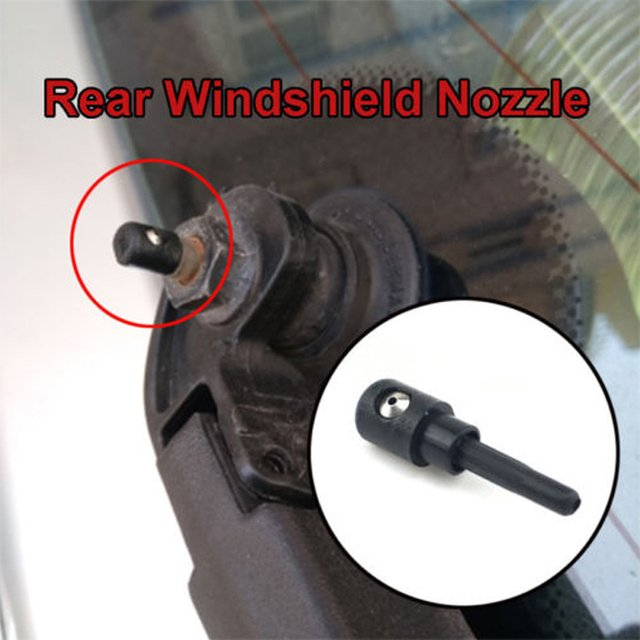 Wiper Washer Jet Rear Window Vehicle Accessories Durable Windshield Automobile Car Styling Spray Nozzle Black 3B9955985A